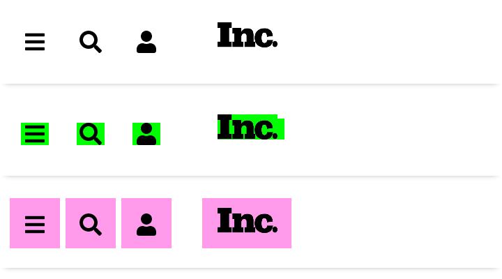 Capture d'écran du site Inc.com avec
