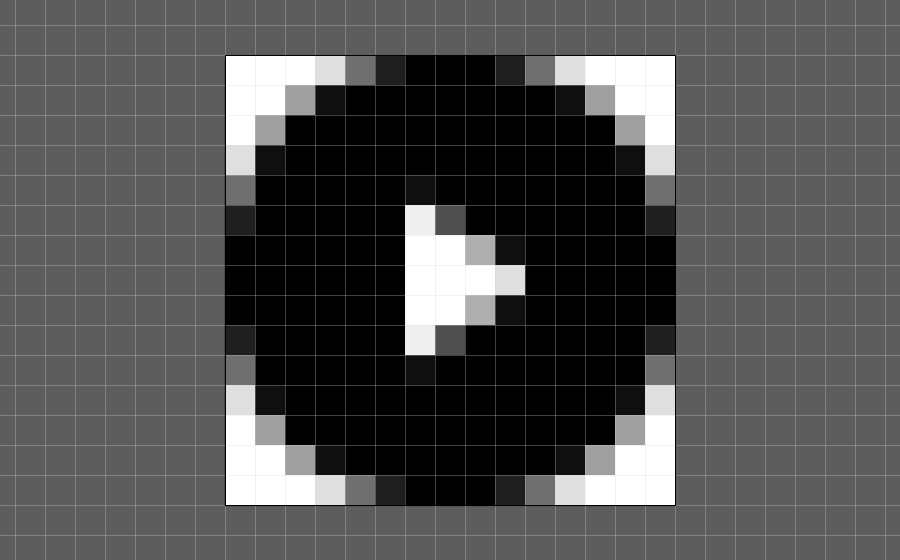 Screenshot of an round icon in Illustrator, touching the limits of the artboard